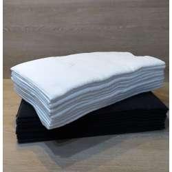 Toallas de peluquería blancas y negras