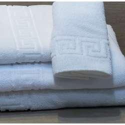 Juego de toallas con las cuatro medidas disponibles