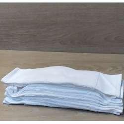 Contenido de un paquete 12 paños higiénicos de color blanco