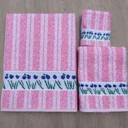 Juego de toallas modelo Flores Silvestres