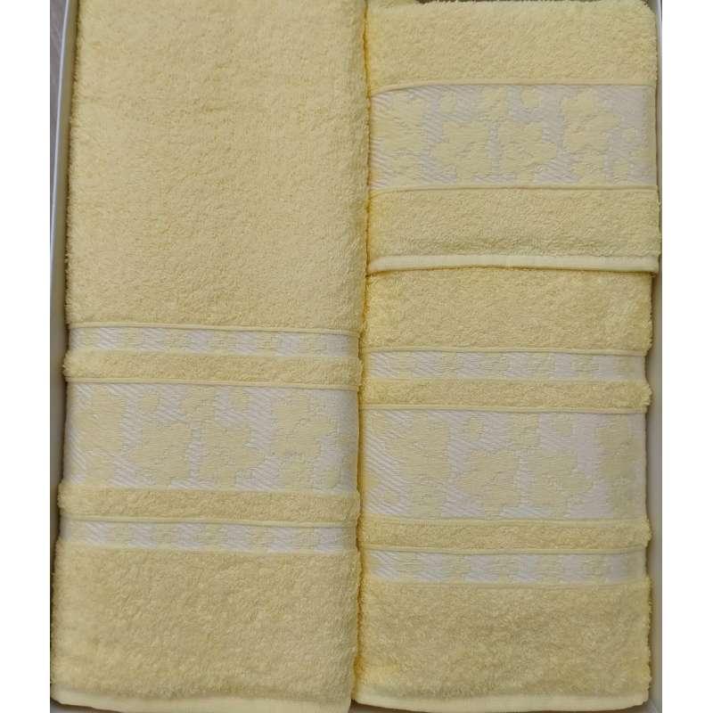 Juego de toallas amarillas