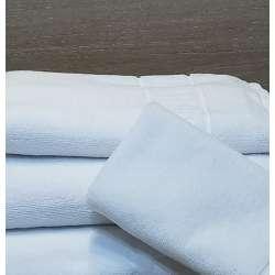 Juego de toallas blancas de algodón 100%